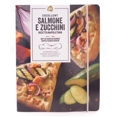 A5 Schrift AH Excellent pizza Salmone E Zucchini