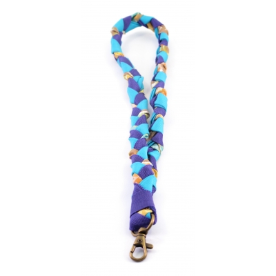 Recycle Keycord - blauw/paars/oranje