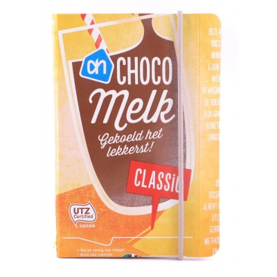 Recycle notitieboekje AH Chocomelk Classic