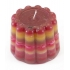 Recycle pudding kaars - rood/oranje/geel/roze